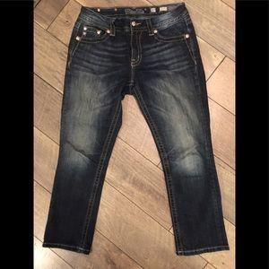 Miss Me Curvy Crop Jeans